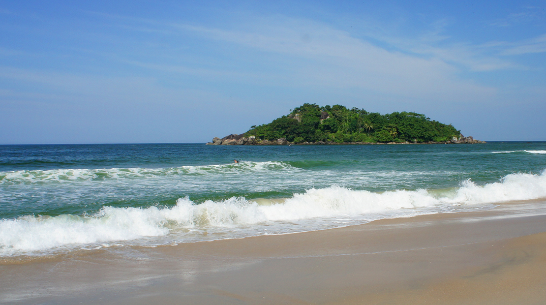 Praia Branca Guarujá - prainha