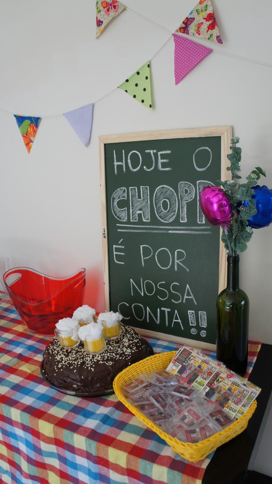 decoracao niver boteco:Meu aniversário, boteco em casa!