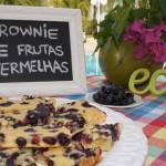 Tarde de sol e brownie de frutas vermelhas