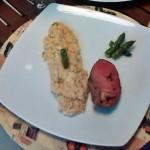 Risoto de aspargos com brie
