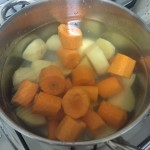 Bolinho assado de cenoura