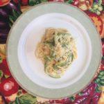 Jamie Oliver: massa à carbonara com abobrinha