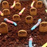 Halloween: bolo de ~ chocolate ~ cemitério