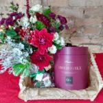 … e para o Natal, flores e panetone!