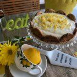 Torta de limão siciliano e cookies
