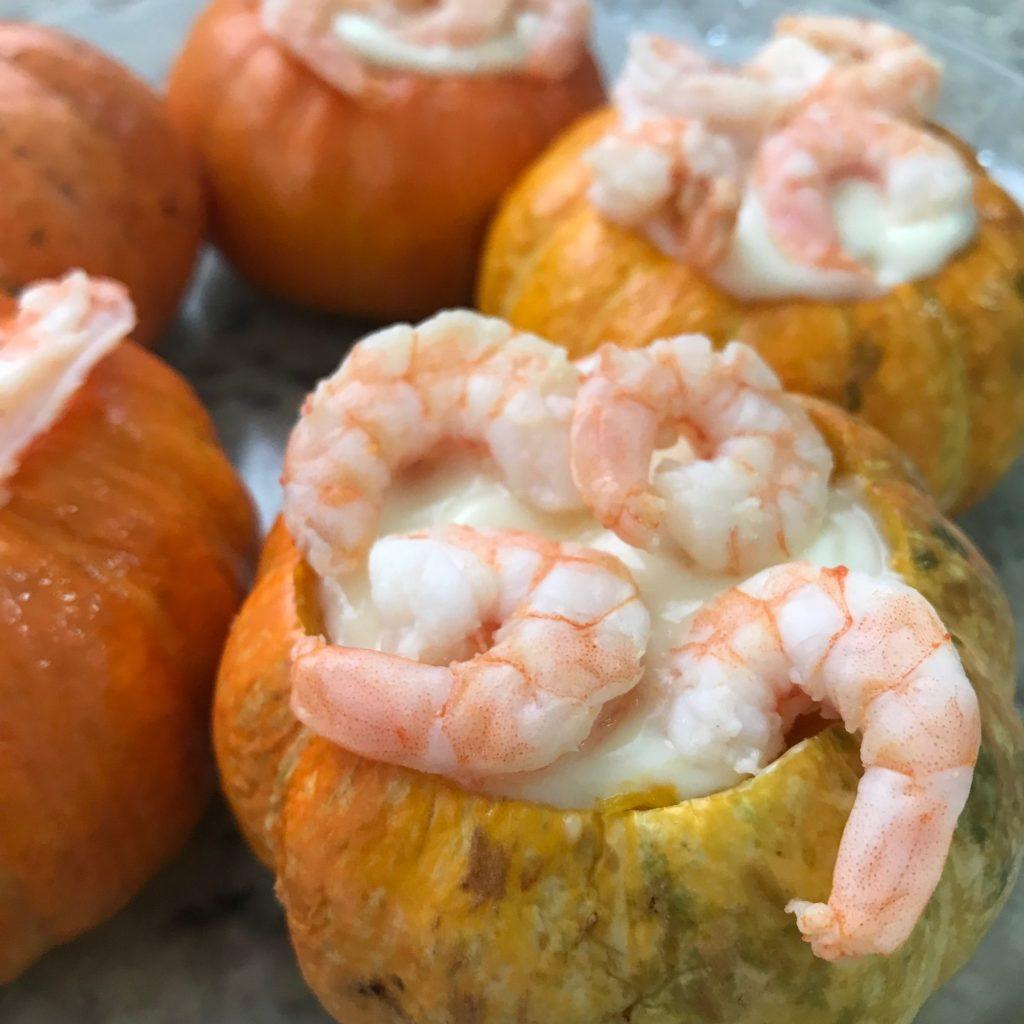 mini moranga com camarão