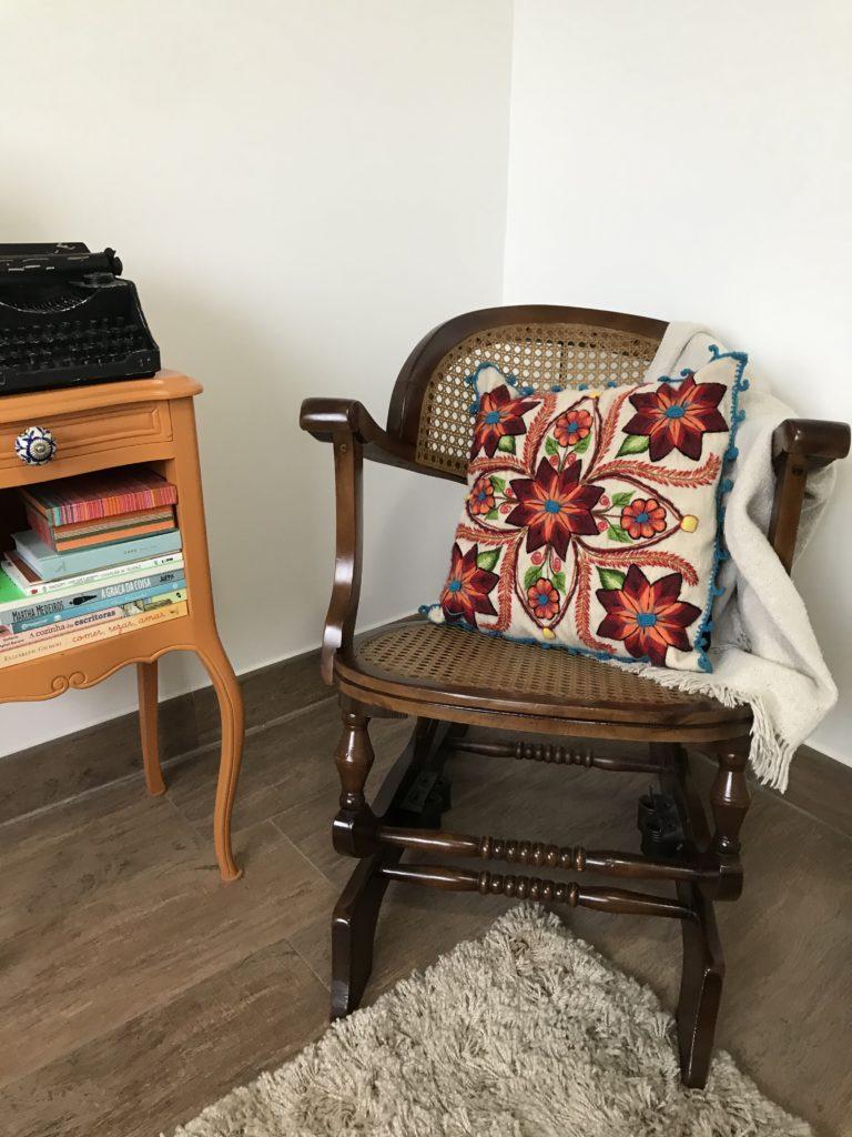 minha cadeira de balanço lembrança da minha vó