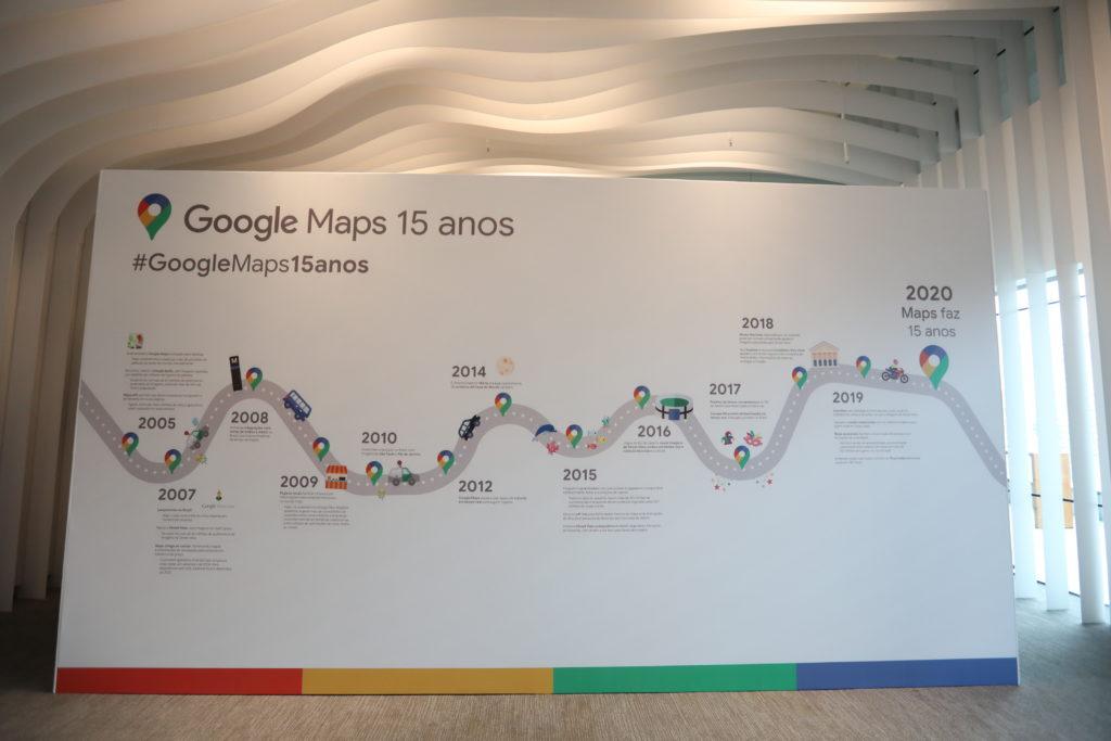 a linha do tempo de google maps