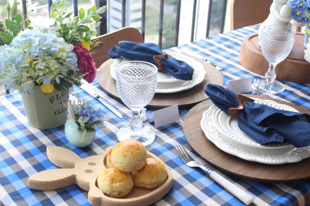 Uma mesa em casa para a Páscoa