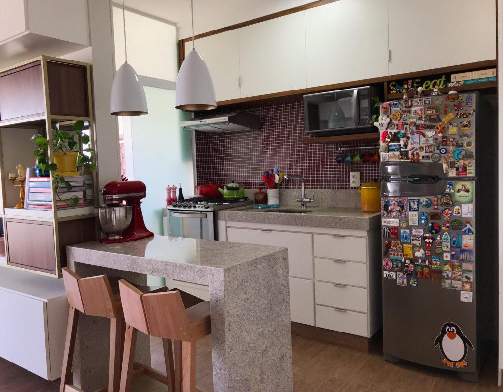 visão geral da cozinha