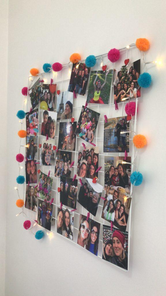 mural de fotos sem furar a parede