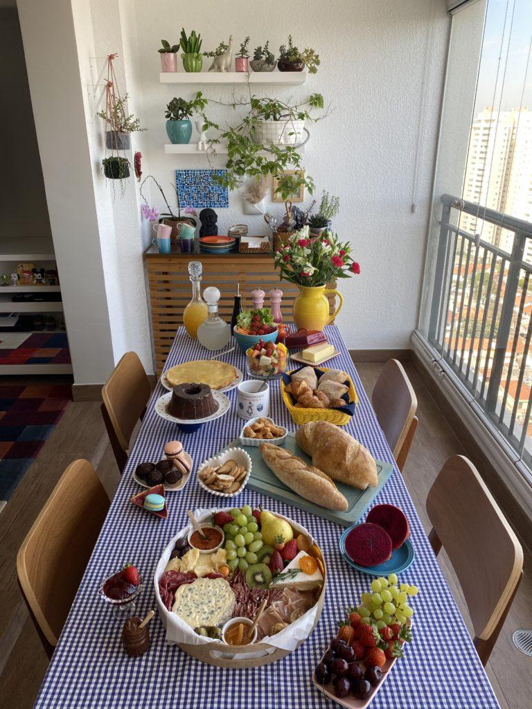 Um buffet para receber em casa