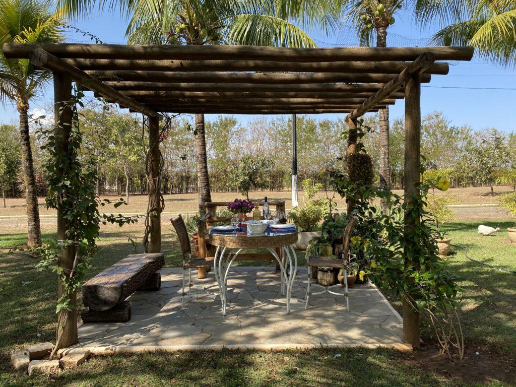 Risoto e vinho: um almoço ao ar livre