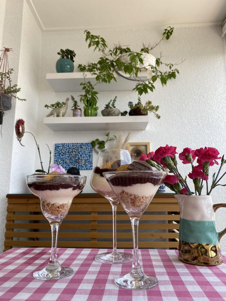 Torta holandesa na taça