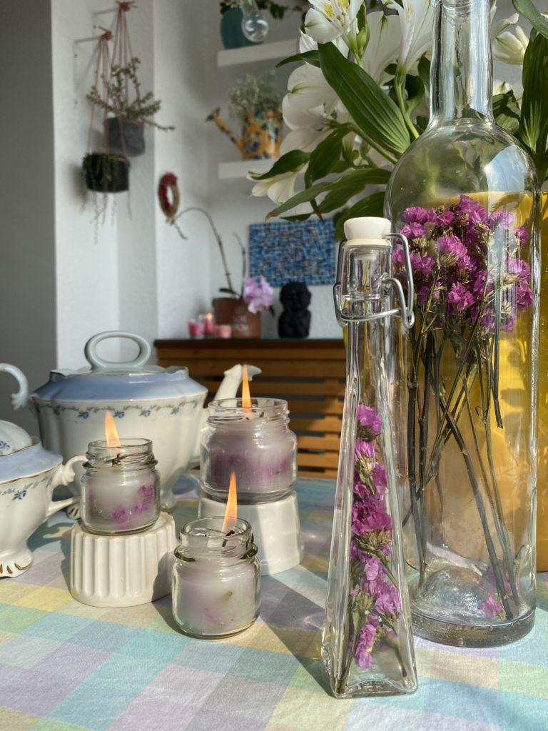 velas e garrafas