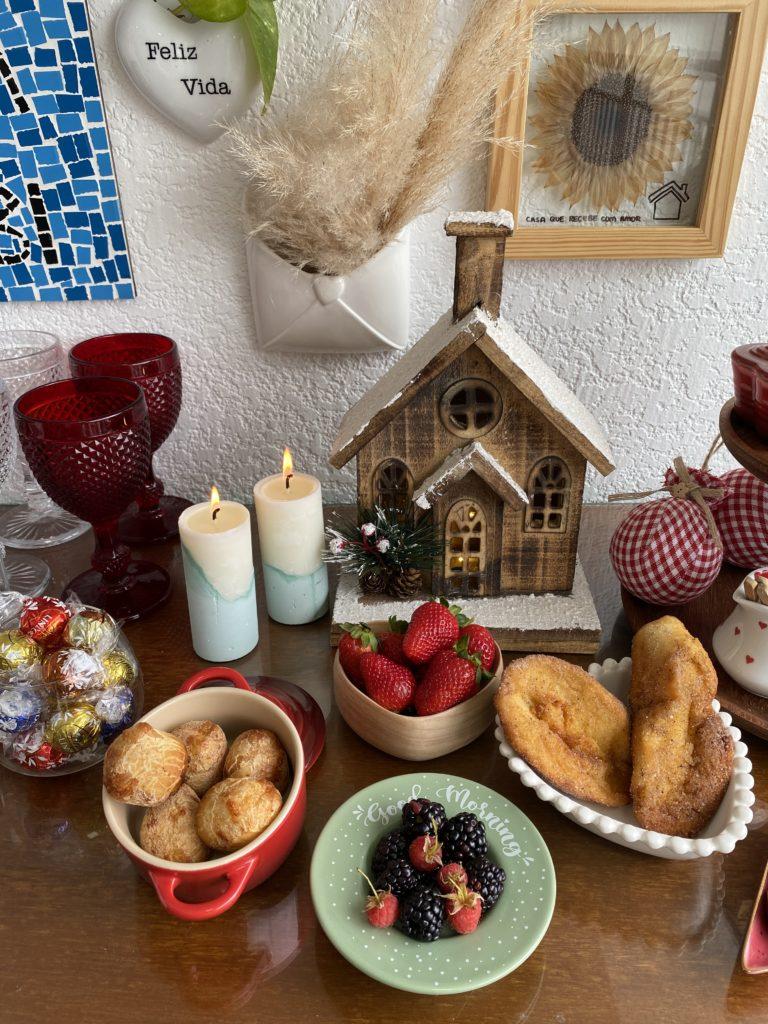 Vela, casinha, comidas e muito amor no natal