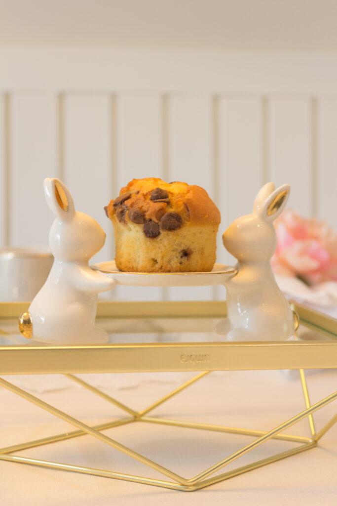 Detalhe do coelho com cupcake