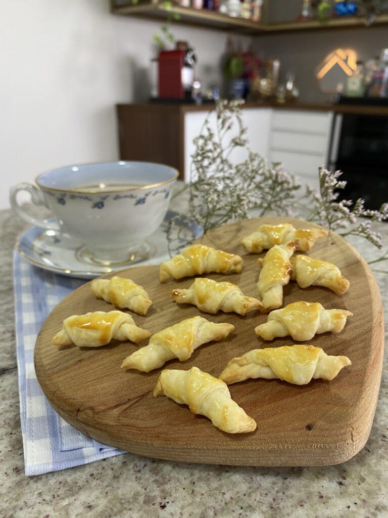 Como fazer mini croissant com massa folhada