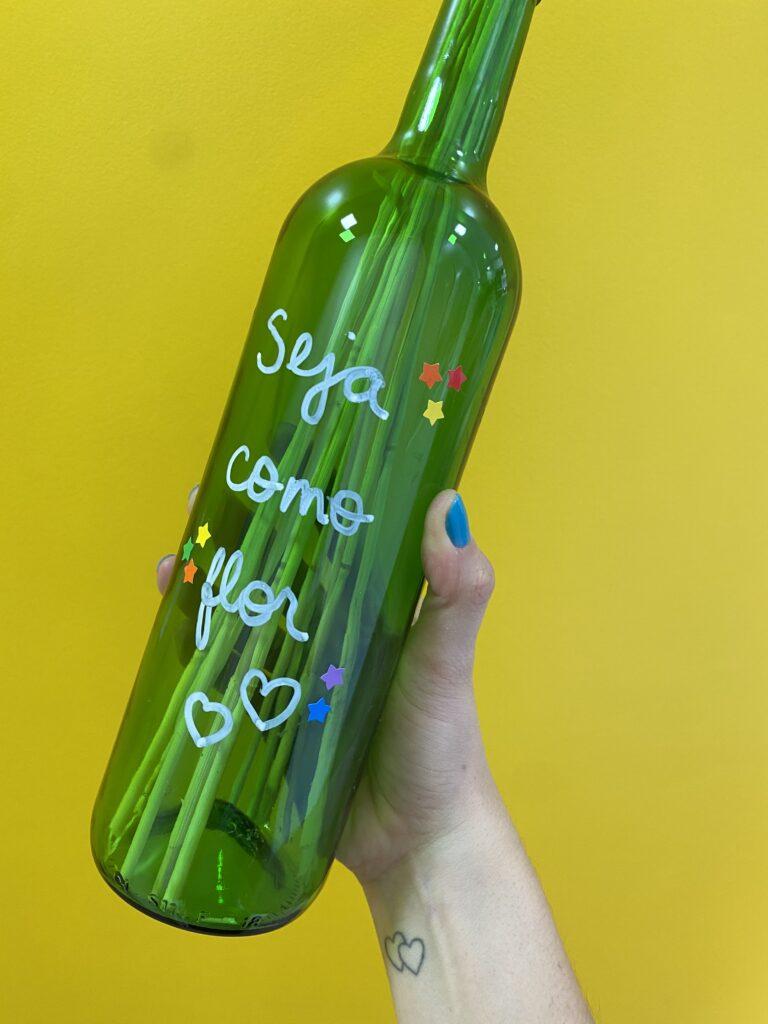 garrafa de vinho para decorar